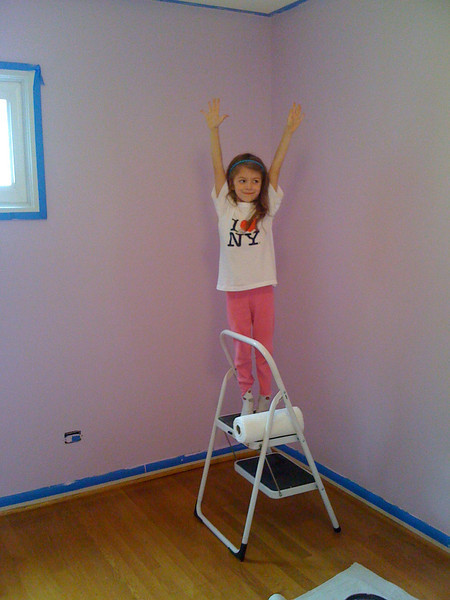 Sam hearts her new room